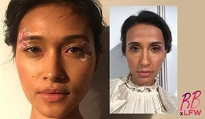 Floral eye makeup is ruling the runways. Here's proof!