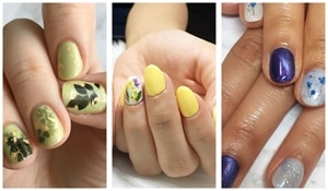 Flower-at-your-fingertips nail art! Check this out!