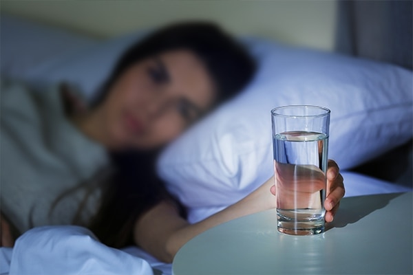 Sleep well and stay hydrated