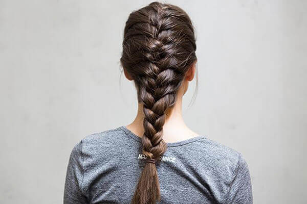 3. French braid your hair