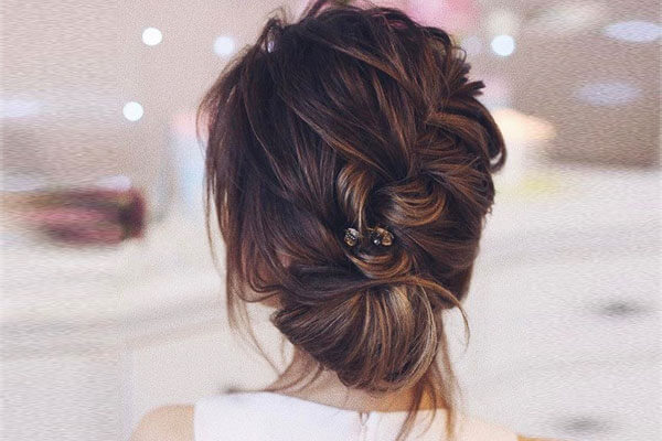 4. French braided bun