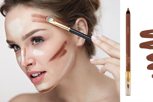 A brown lip liner as a bronzer