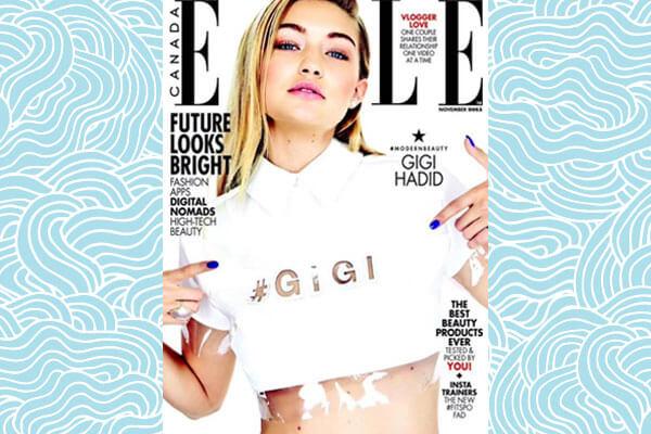 Gigi wearing crop top