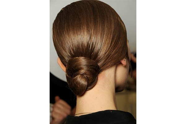 Polished low bun