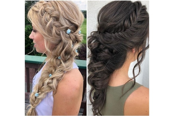 Waterfall braid beaut wedding hairstyles