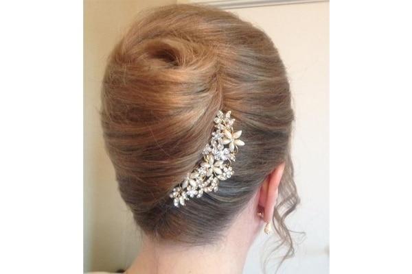 French twist bun wedding hairstyles