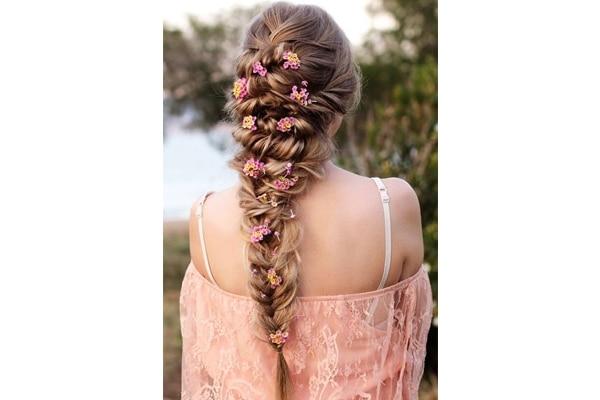 Mermaid braid wedding hairstyles