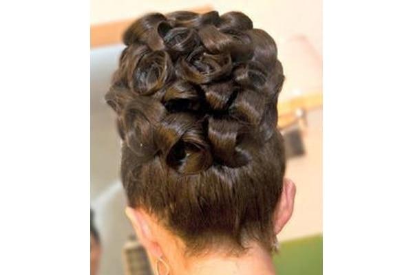 Barrel curl buns wedding hairstyles