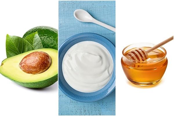 Avocado + yoghurt + honey