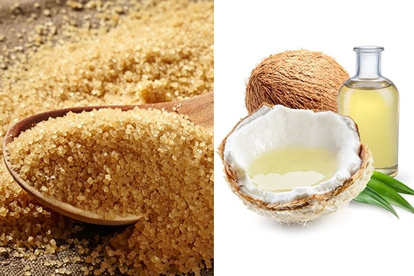 Brown sugar + coconut oil