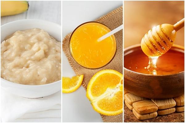Banana + orange juice + honey