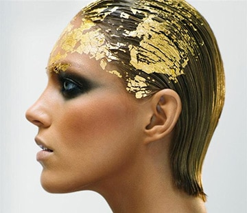 Gold leaf hair