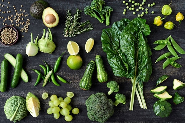 Green leafy vegetables For Hair Growth
