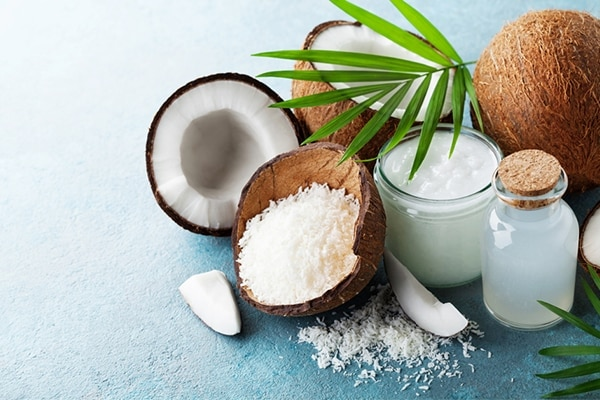 Coconut milk and olive oil