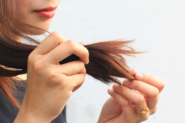 Dry and brittle hair