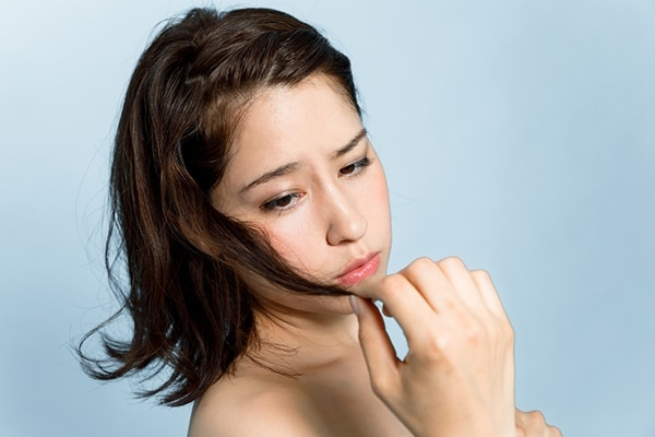 Rough and damaged hair