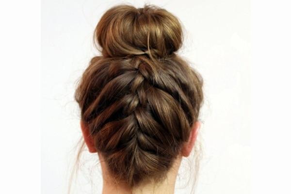 Or the underside braided bun