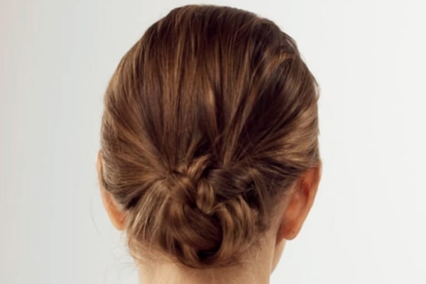 For A festive look try this chic knot bun