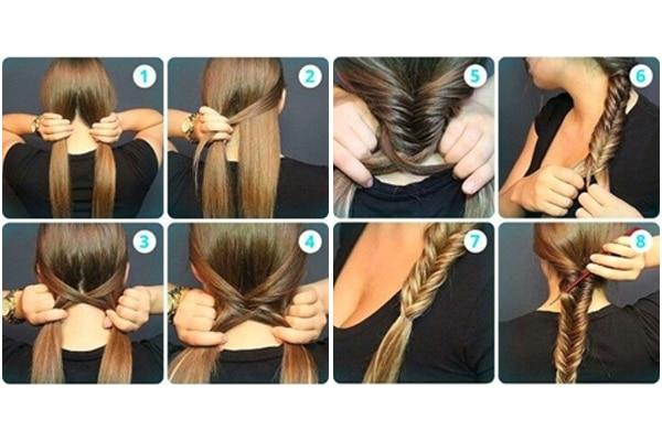 Fishtail braid: