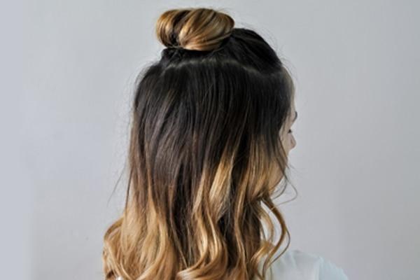 Half hair up:
