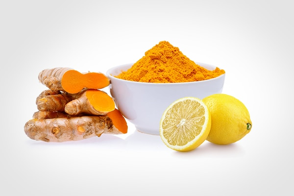 Turmeric with lemon juice