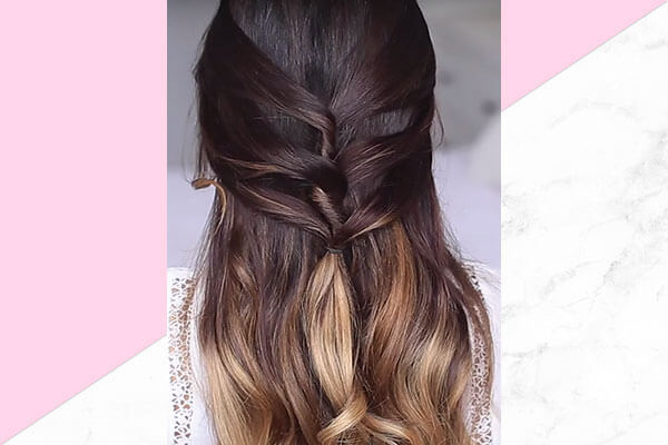 Half up half down hairstyle for this Valentines Day