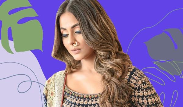 Get the look: Hina Khan's bold blue eyeliner look