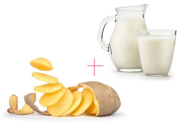 Potato juice and cucumber