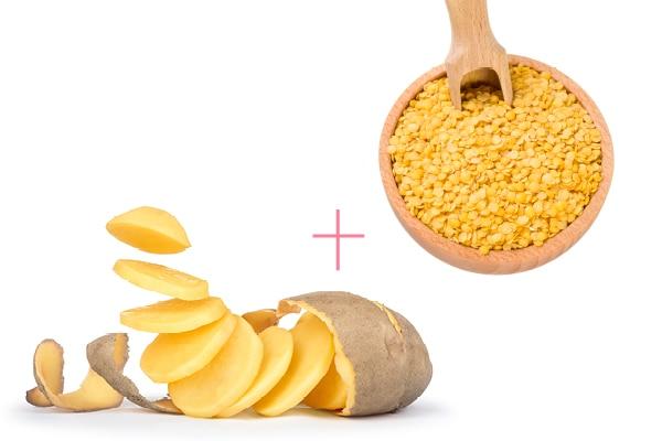 Potato juice and olive oil
