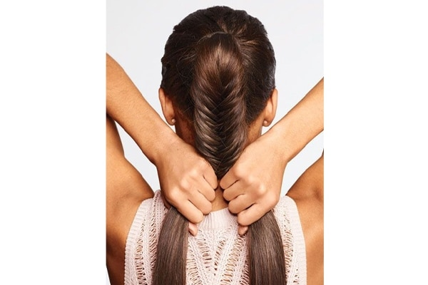 How to do a messy fishtail