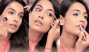 Learn how to do an easy party makeup look with model and actor Sarah-Jane Dias