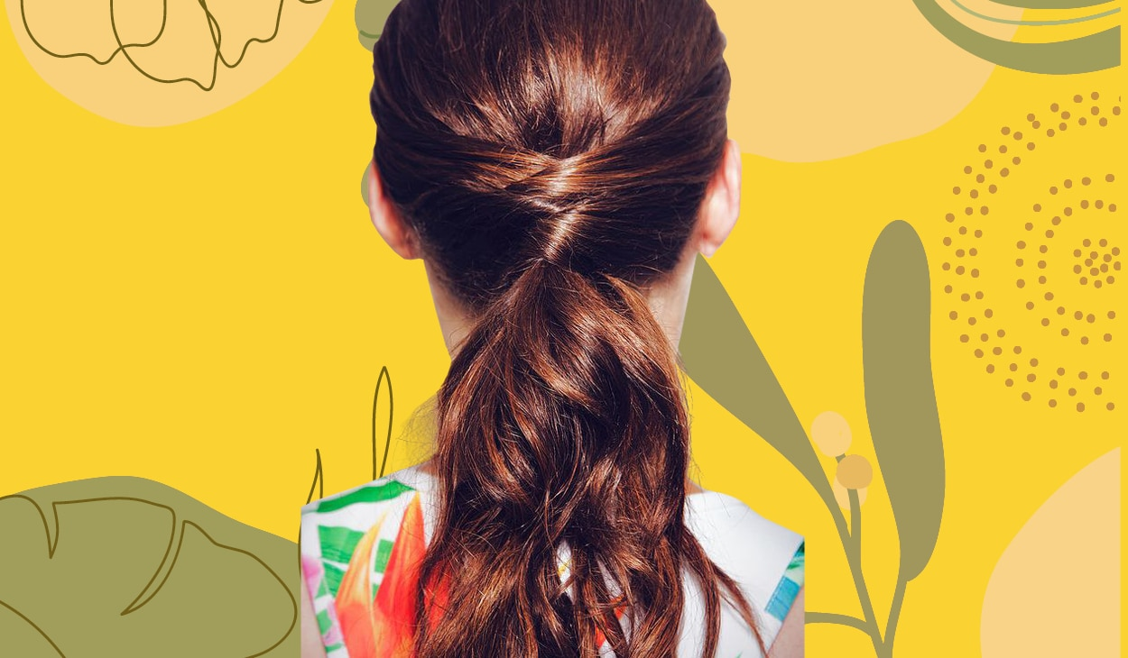 The criss-cross ponytail is the easiest way to amp up your look