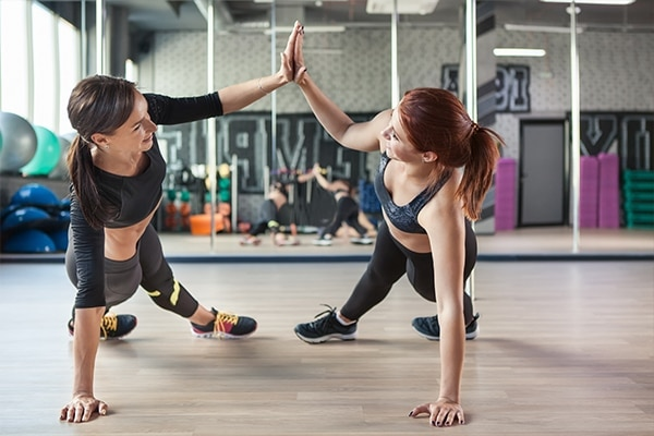 Minimise contact with other people while working out