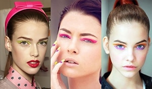 Move over minimal eye makeup, neon is in!