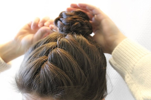 2.	Braided bun