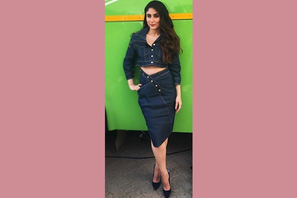 Kareena Kapoor Khan denim combo look from Veere Di Wedding Promotions