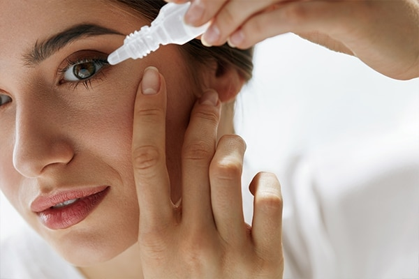 Eye drops as the antidote for redness and puffiness
