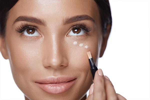Be generous with the concealer