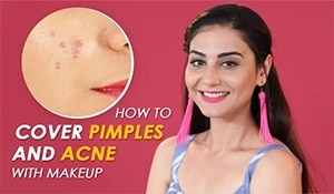 Makeup artist Simmy Goraya shows you how to conceal pimples and acne with makeup