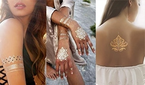 Get on board the metallic tattoo trend!