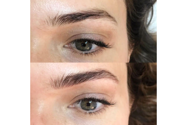 Micro feathering brow grooming process