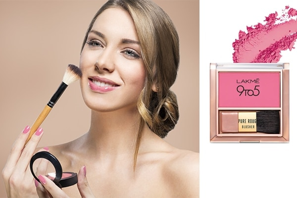 Skip shimmery blush as it can magnify bumpy skin