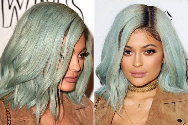 Mint hair colour inspo to take from Kylie Jenner