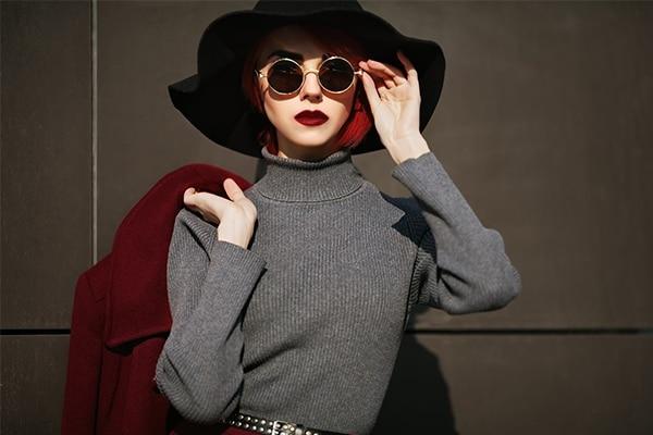 Opt for darker lipstick shades