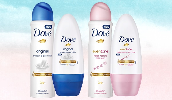 Dove just launched their Original & EvenTone deodorants in sprays and roll-on, and our underarms fell in love at first sight!