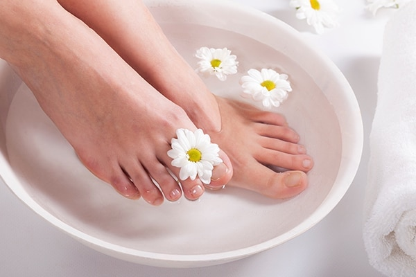 Step 2: Soak Your Feet In Warm Water