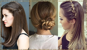 Party hairdos for girls with long, silky hair