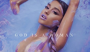 Ariana Grande's lavender makeup is compelling proof that if God is indeed a woman, her makeup game is on point