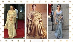 4 times Kangana Ranaut aced the sari game
