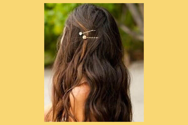 Pinned back beach waves